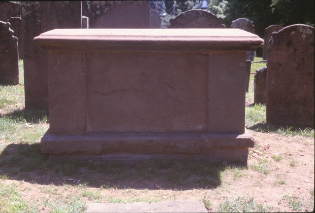 Rev. Chauncey Crypt, 1756, CT Valley Sandstone Old Buying Ground, Durham, CT.