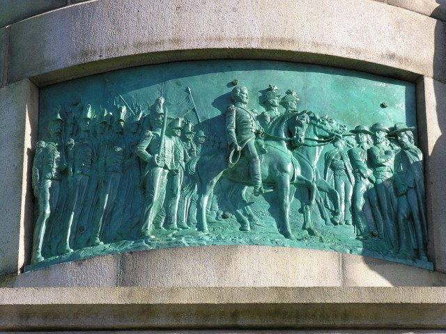 Soldiers and Sailors Monument, Scott Entering Mexico City Doyle, 1887, New Haven, CT.