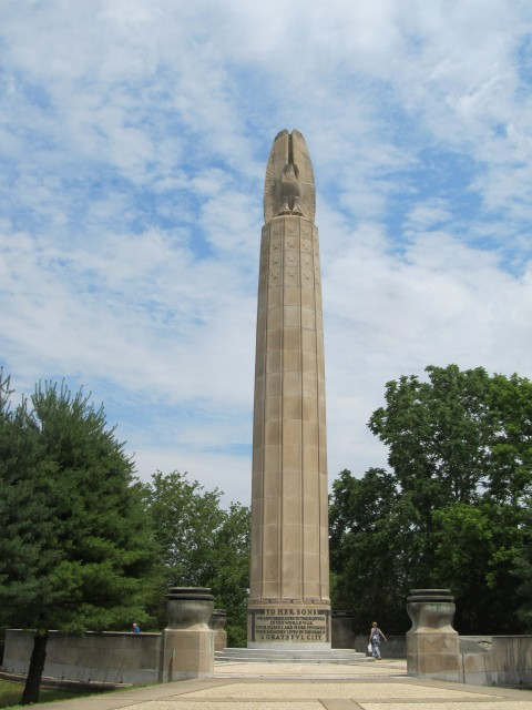 1.1.2 World War Monument, Magongle, Harold Van Buren, 1928, New Britain, CT. Development of preservation plan.