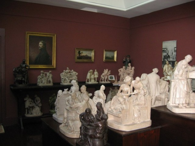 1.2.4. Rogers Studio and Plaster Groups, John, Rogers, 19th Century, New Canaan Historical Society, CT.  Overview of Rogers Groups.