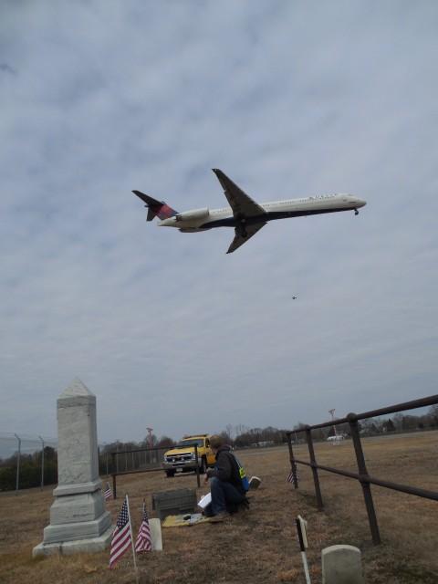 1.2.6 Freeman Burial Lot, T.F. Green Airport, Warwick, Rhode Island.  Cemetery marker survey.