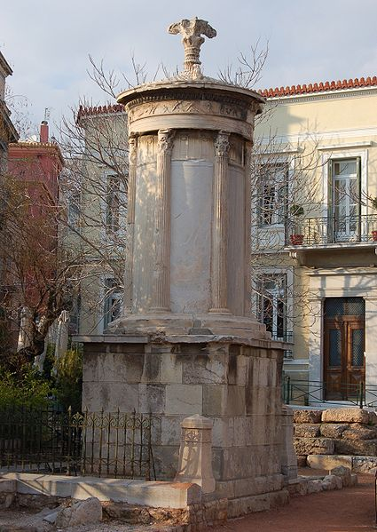 1.4.5 Bennett Fountain, Choragic Monument of Lysicrates, Athens. Overview of the Roman monument. Note the New Haven monument now captures the aged quality of the original.