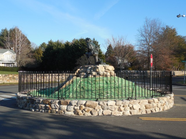 2.5.6 Minute Man Monument, Daniel. A. Webster, 1910, Westport, CT. After Treatment using historic mortar match.
