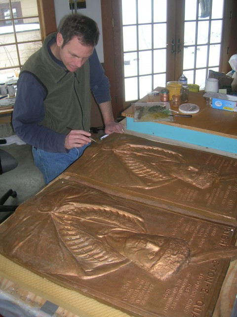 2.6.14 Pushetonequa, Christian Petersen, 1930, State Historical Society of Iowa, Des Moines. View of finishing replica.