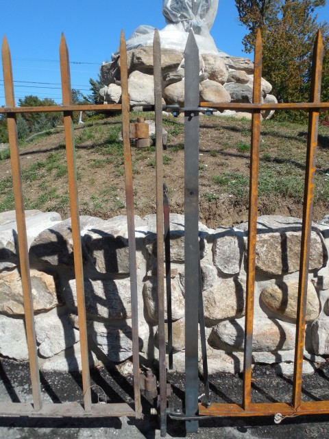 2.6.18 Westport Minute Man Monument Wrought Iron Fence. Replacement elements.