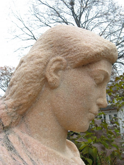 2.6.8 Mother and Boy, Henry Kreis, 1937, Stamford, CT. Mother's head after color matched aggregate patches.