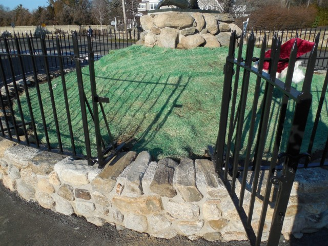 2.7.21 Iron Fence, Minute Man Monument, Westport, CT. View after application of industrial paint system.
