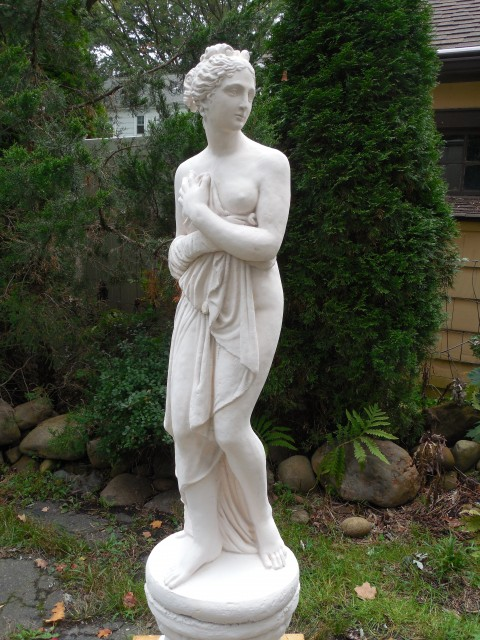 2.7.4 Pandora, early 20th century, cast concrete, private collection. Application of mineral paint system.
