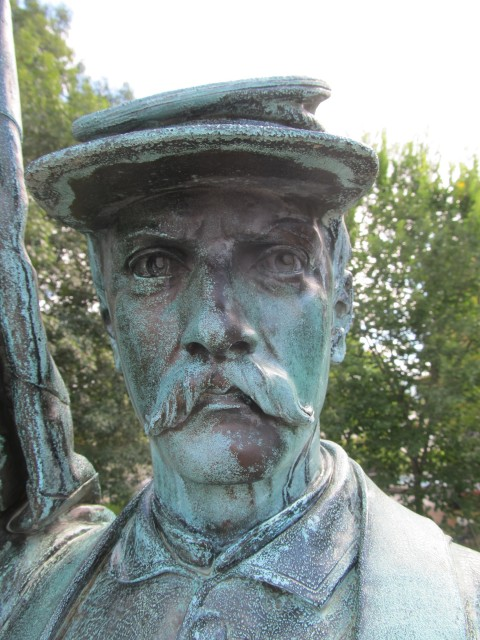 2.7.9 Civil War Memorial, Launt Thompson, 1872, Pittsfield, MA. Overview of face before treatment.