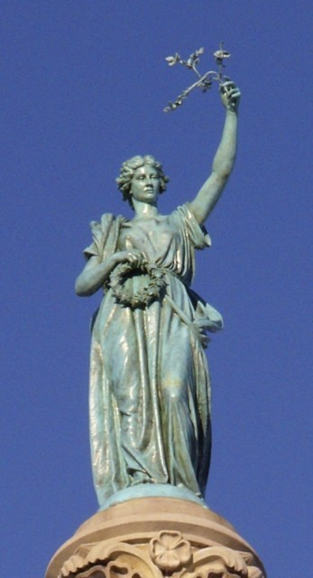 2.8.11 Angel of Peace, Moffit & Doyle, 1887, Soldiers & Sailors Monument, New Haven, CT.   After treatment