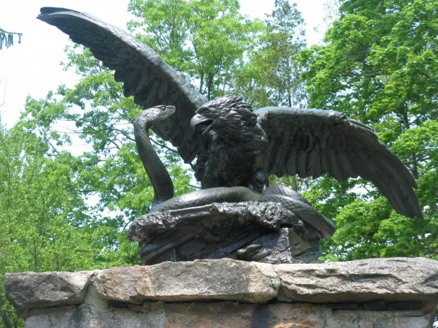 2.8.21 Eagle, Gutzon Borglum, Stamford Museum and Nature Center, CT.