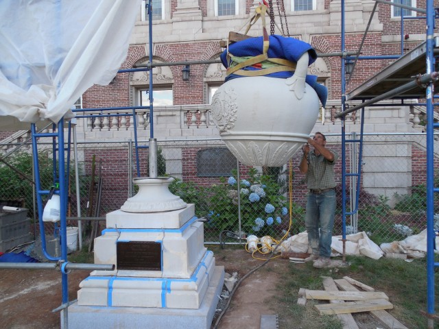 2.9.11 United Spanish War Veterans Memorial, 1933, CT VA Hospital. Assembly of terra cotta monument.