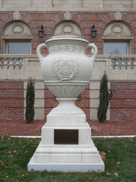 2.9.12 United Spanish War Veterans Memorial, 1933, CT VA Hospital. Overview of terra cotta monument after treatment