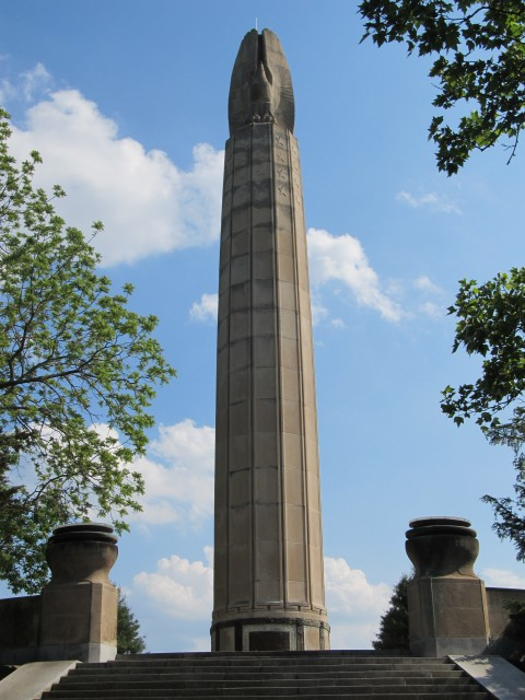 3.2.4 World War Monument, Magonigle, Harold Van Buren, 1928, New Britain, CT. Development of preservation plan. for Indiana Limestone monument.