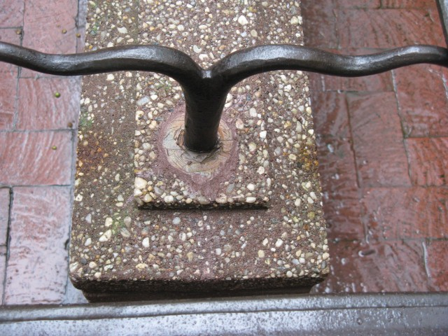 3.5.15 Iron Rail Cast Stone Wall, Gracie Mansion, 1799-1966, New York, NY. After treatment.