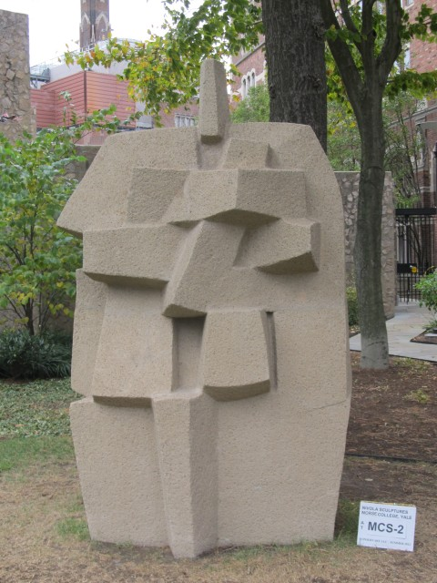 3.5.6 Costantino Nivola, 1962, Morse College, Yale University. Cast stone sculpture after treatment.