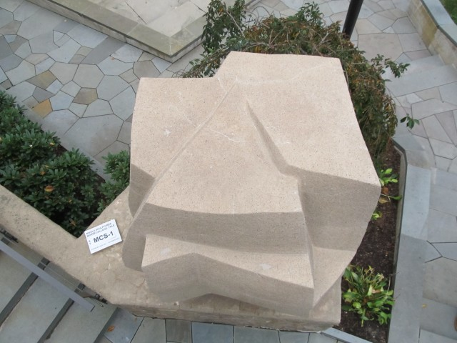3.5.7 1962, Morse College, Yale University. Cast stone sculpture after treatment.