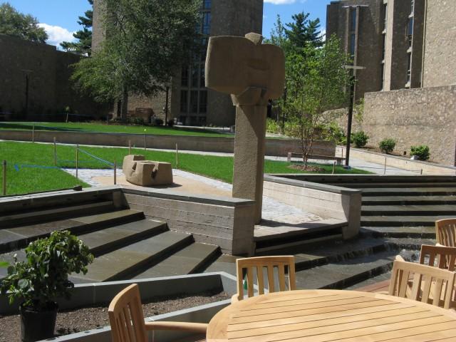 3.5.8.1 Costantino Nivola, 1962, Stiles College, Yale University. Cast stone sculpture after treatment.