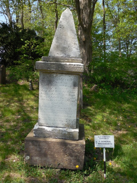 4.1.14 Wadsworth Family Monument, 1816, old Cemetery, Durham, CT. Marble includes commemoration of General James Wadsworth, Continental Congress, 1784.