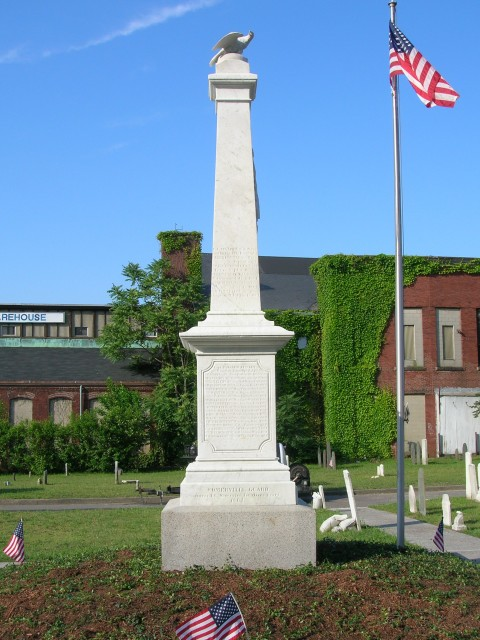 4.1.23 Milk Row Cemetery, 1804, Somerville, MA. Civil War Monument, 1862, after treatment.