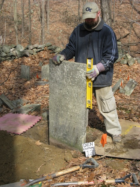 4.1.26 Den Cemetery, 1820, Easton, CT. Setting marker in cemetery to integrate whites and free blacks in CT.