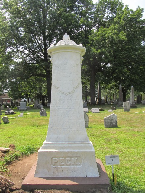 4.1.29.6 Peck Monument, 1863, Old North Cemetery, Hartford, CT. After cleaning and resetting.