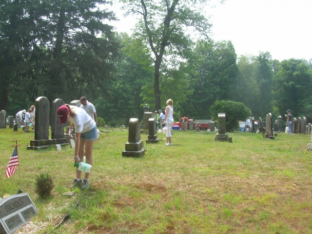 4.1.32 Volunteer Cleaning  Campaign. Center Cemetery, Easton, CT.