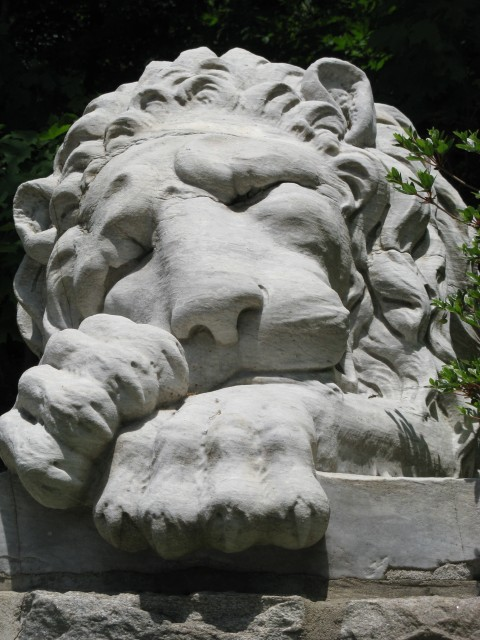 6.1.0 Bendel Lion - Sleeping Lion,  1875, Stamford Museum and Nature Center, CT.