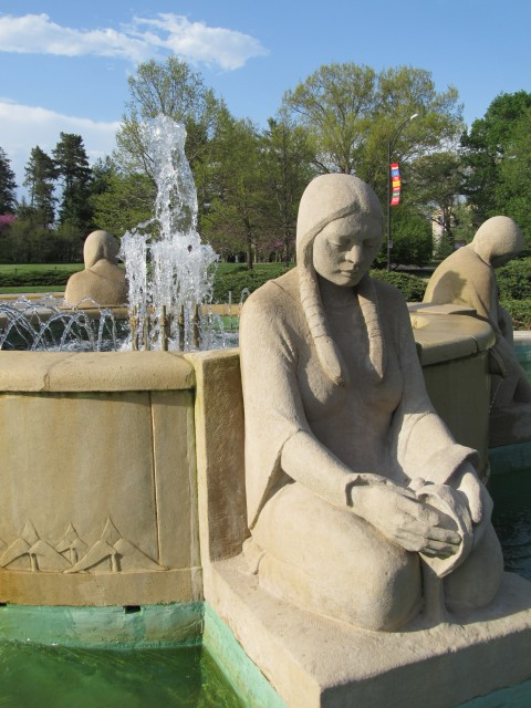 6.1.7 Spring, Fountain of the Four Seasons,  Christian Petersen, 1941, University Museums, Iowa State University, Ames. View after treatment.