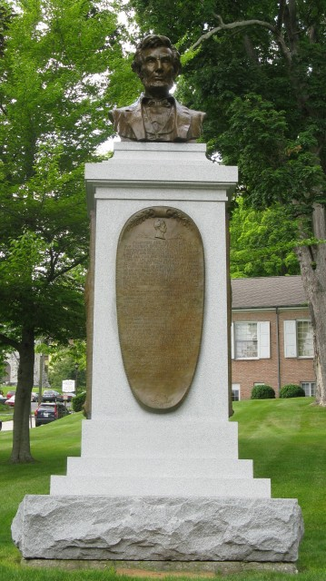 6.2.16 Lincoln Herm, Paul Morris, 1912, New Milford, CT. Overview of the monument after conservation treatment.