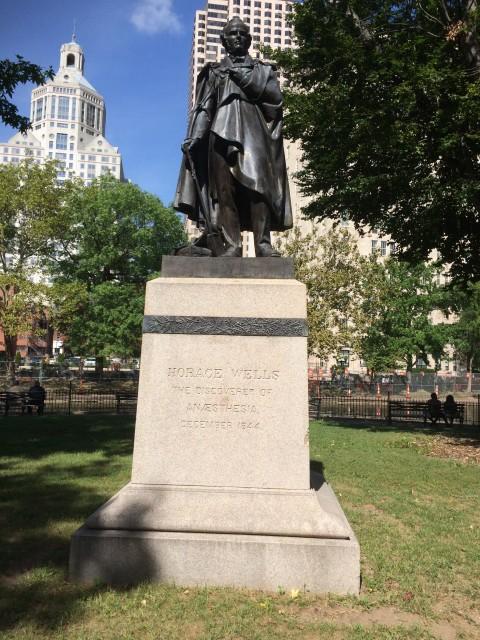 6.2.25 Horace Wells Monument, T.H. Bartlett, 1874, Bushnell Park, Hartford, CT.