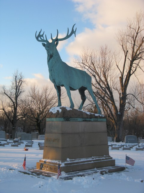 6.2.3. Elks Rest Memorial, Eugene Moraham, 1914,  Forest Lawn Cemetery, Buffalo, NY.  Overview monument for conservation assessment.