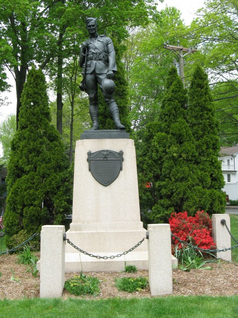 6.2.32 Doughboy, Plaque, J. Clinton Shepard, 1908, Westport, CT. Overview of conserved monument.