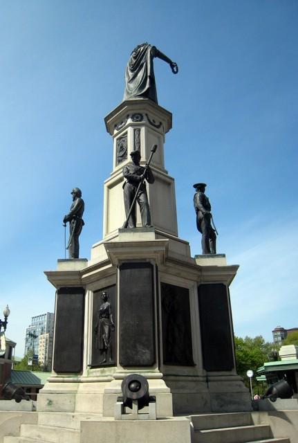 6.2.9 Soldiers and Sailors Monument, Randolph Rogers, 1871, Kennedy Plaza, Providence, RI.  Back overview of the monument.