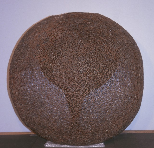 6.3.3 Untitled, Michael Malpass, 1975-1978, private collection. Overview of the steel sculpture of four, continuous, enveloping spheres.