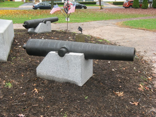 6.7.3 Civil War Cannon, Soldiers Monument, Melzar Mosman, 1874 Middletown, CT.  View of treated, captured, 12lb Civil War cannon.