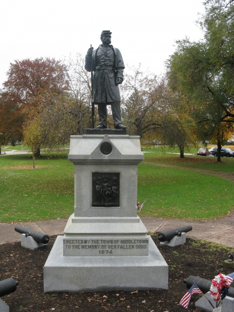 7.1.9 Soldiers Monument, Melzar Mosman, 1874 Middletown, CT.  Overview of monument after treatment and cyclic maintenance.