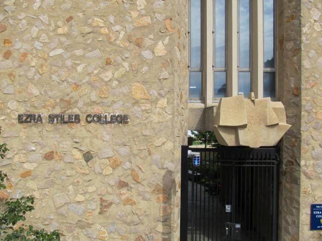 9.1.7 Costantino Nivola, 1962, Stiles College, Yale University. Site specific sculpture with Eero Saarinen architecture.