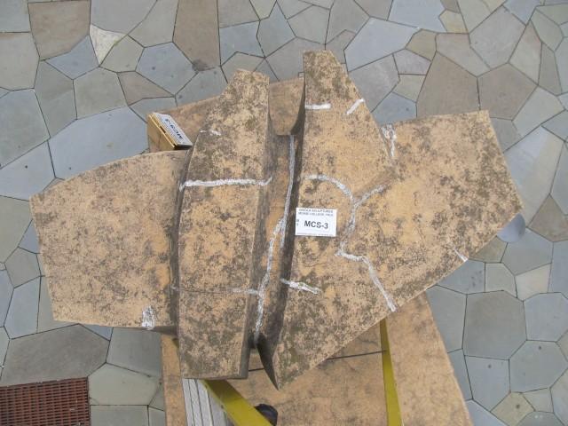 9.1.9 Costantino Nivola, 1962, Morse College, Yale University. Cast stone sculpture before treatment.