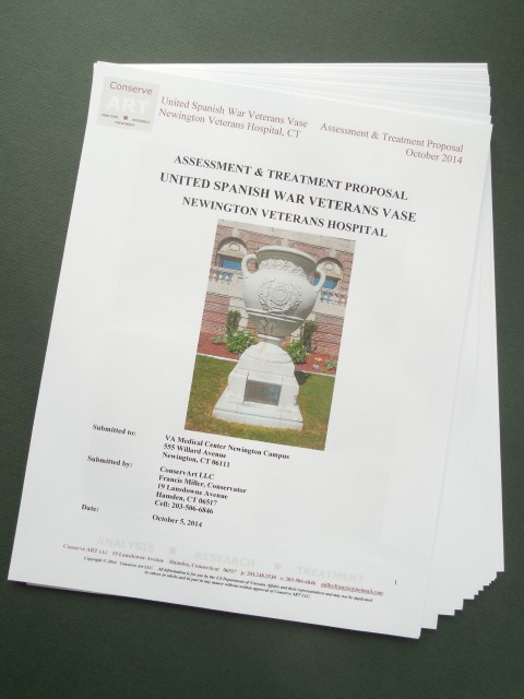 1.6.12 United Spanish  War Veterans Vase Treatment Proposal - Cover.