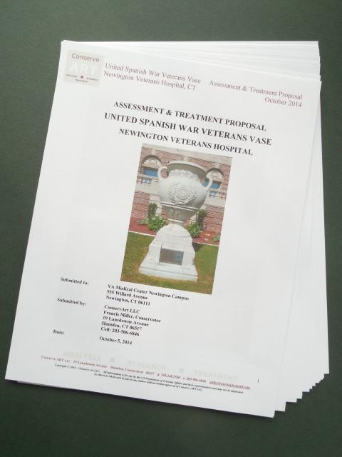 1.6.12 United Spanish  War Veterans Vase Treatment Proposal - Cover.