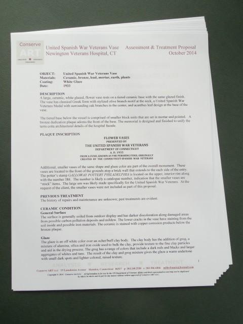 1.6.13 United Spanish  War Veterans Vase Treatment Proposal -Condition.