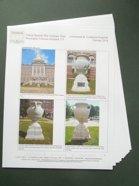 1.6.16 United Spanish  War Veterans Vase Treatment Proposal -Condition Images.