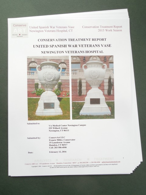 1.6.17 United Spanish  War Veterans Vase Treatment Report -Cover.