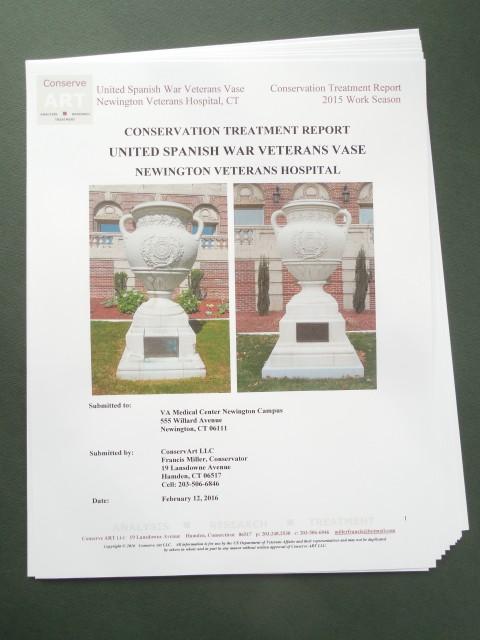 1.6.17 United Spanish  War Veterans Vase Treatment Report -Cover.