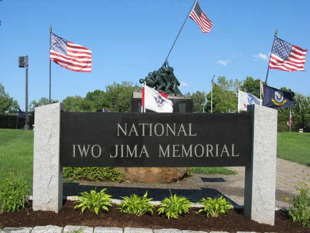 9.5.1 National Iwo Jima Memorial, Petrovics, 1995, New Britain, CT.  Site Overview.
