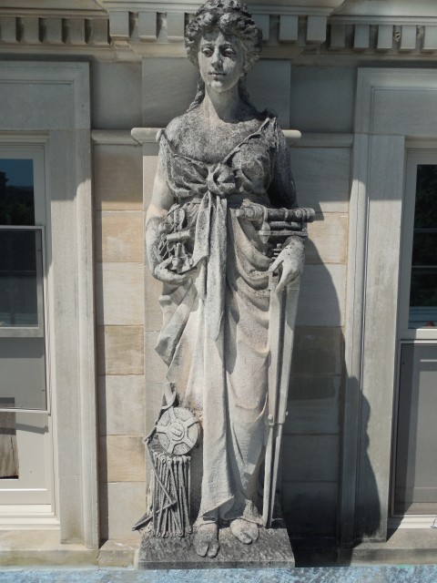 9.9.17 Marston Muses, 1900, Iowa State University, Ames. Civil. Front overview of the sculpture.