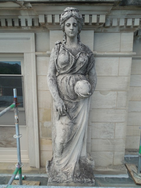 9.9.21 Marston Muses, 1900, Iowa State University, Ames. Electrical. Front overview of the sculpture.