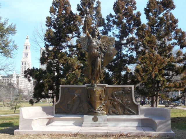 1. Spanish American War Monument, Evelyn Beatrice Longman, 1926, Hartford, CT. Overview of monument after treatment
