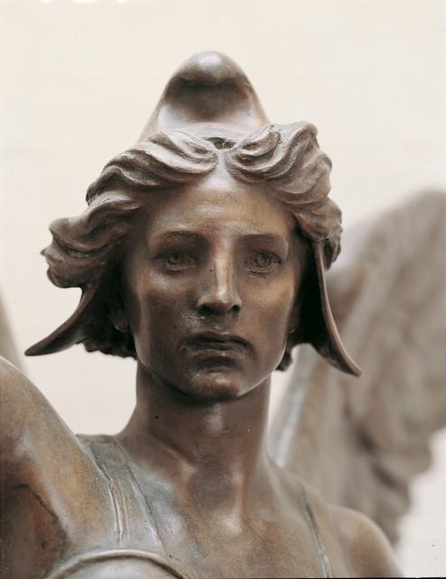 10. Spanish American War Monument, Evelyn Beatrice Longman, 1926, Hartford, CT. Detail of model with historic, original patina.